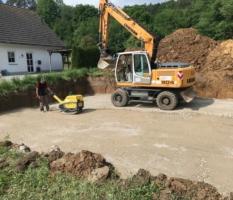 Unterbau für Bodenplatte